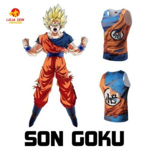 Camisa Goku - Batalha - Dragon Ball Super