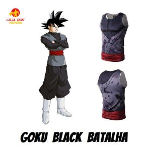 Camisa Goku Black - Batalha - Dragon Ball Super