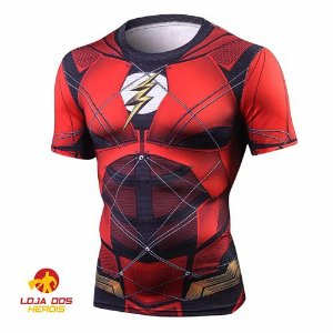 Camisa Flash - Liga Da Justiça