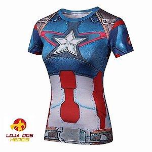Capitão América Primeiro Vingador - Feminina