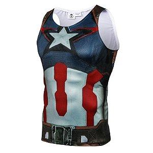 Regata Capitão América - Primeiro Vingador