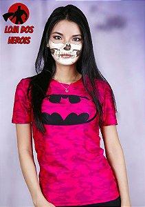 Camisa Feminina Batman Pink