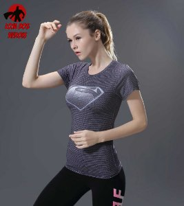 Camisa Feminina Superman Black