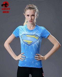 Camisa Feminina Superman Azul
