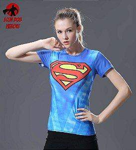 Camisa Feminina Superman Clássica