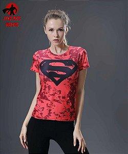 Camisa Feminina Superman Vermelha