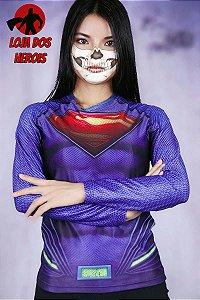 Camisa Feminina Superman - Manga Longa