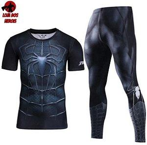 Conjunto Calça Homem Aranha Venom Curta
