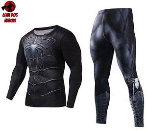 Conjunto Calça Homem Aranha Venom Manga