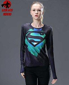 Camisa Feminina Superman Edição Especial - Manga Longa