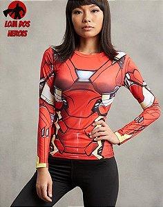 Camisa Feminina Homem De Ferro - Manga Longa