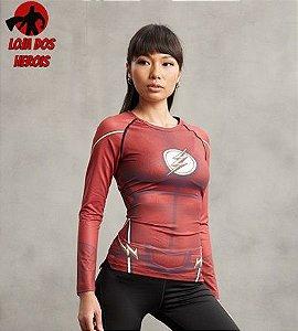 Camisa Feminina Flash - Manga Longa