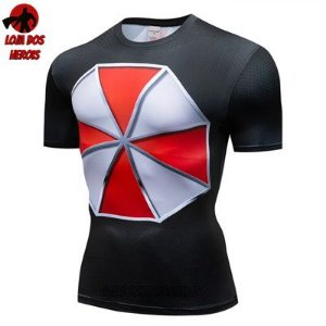 Camiseta Umbrella Resident Evil Compressão