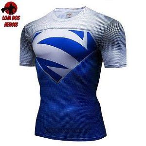 Camiseta Superman Elétrico Azul Compressão