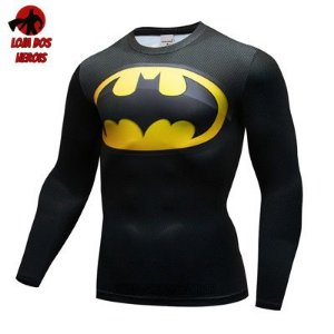 Camiseta Batman Clássico Manga