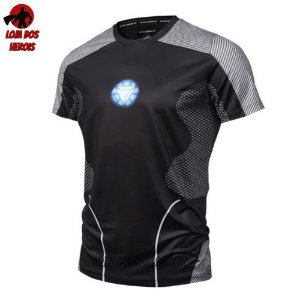 Camisa/Camiseta Tony Stark Compressão