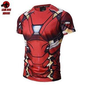 Camisa/Camiseta Homem De Ferro Filme Compressão