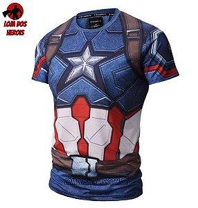 Camisa/Camiseta Capitão América Filme Compressão