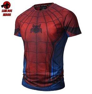 Camisa/Camiseta Homem Aranha Filme Compressão