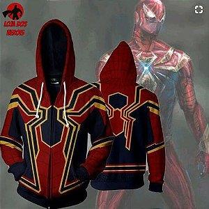 Jaqueta/Blusa Homem Aranha de Ferro Vingadores
