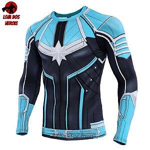 Camisa/Camiseta Capitã Marvel Filme Vingadores Ultimato Endgame - Manga