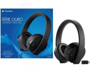 Headset / Fone Stereo Ouro 7.1 Sem Fio Playstation 4 / Ps4