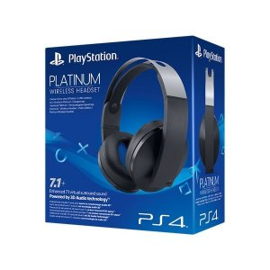 Headset / Fone Playstation 4 Stereo Platinum 7.1 Wireless 3D Ps4