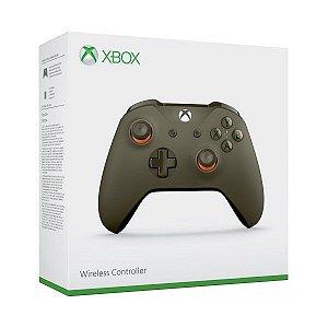 Controle Xbox One S Wireless Slim Army Green Orange