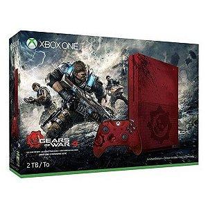 Xbox One S 2tb + 1 Jogo Gears Of War 4 Ultimate Edition - Vermelho
