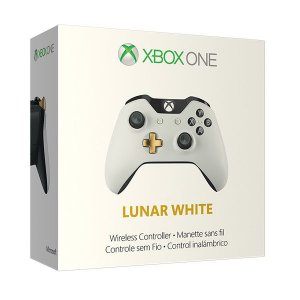 Controle Xbox One S Wireless Slim Lunar White