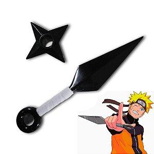 Kunai e Shiuriken - Borracha Naruto