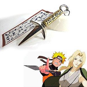 Kunai Minato - Miniatura em metal- Anime Naruto