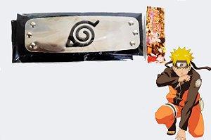 Bandana Vila da Folha- Preta- Anime Naruto