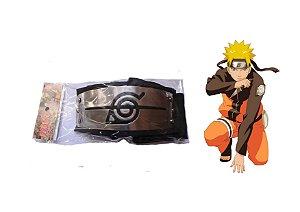 Bandana Vila da Folha- Renegados- Preta- Anime Naruto