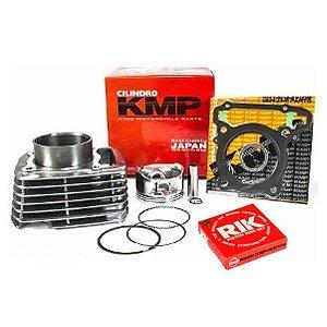 Kit Premium Completo Com Cilindro Pistão e Junta Kit A Kmp. Anéis Biz 100