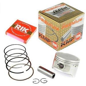 Kit Premium Completo Com Cilindro Pistão e Junta Kit A Kmp. Anéis Biz 125 05 a 08 (Para modelo com carburador)