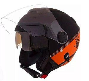 Capacete Aberto Pro Tork New Atomic Skull Riders HD
