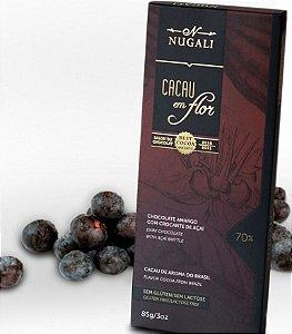 Tablete Chocolate 70% Cacau com Açaí - Nugali