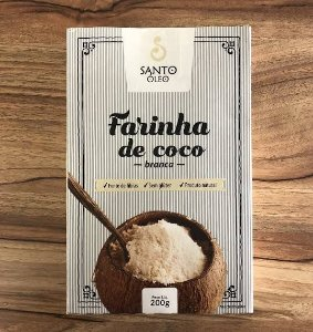 Farinha de Coco Branca - Santo Óleo