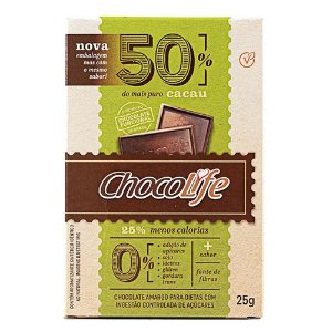 Chocolate Zero Açúcar 50% Cacau - Chocolife