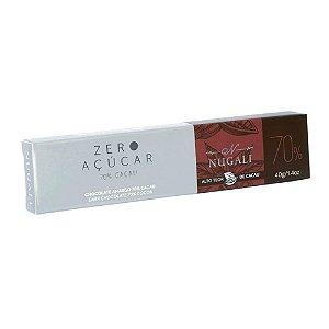 Tablete Zero Açúcar 70% Cacau - Nugali