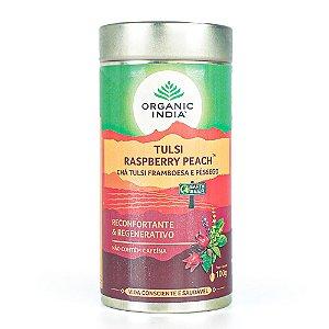 Chá Tulsi Framboesa e Pêssego Tulsi Raspberry Peach - Lata - Organic India
