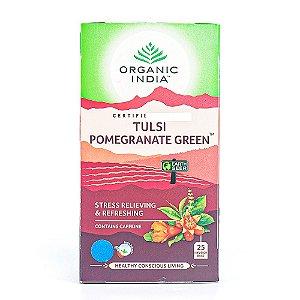 Chá Tulsi Romã e Chá verde Tulsi Pomegranate Green - Organic India