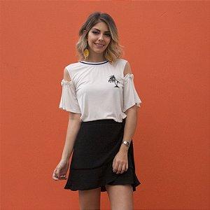 t-shirt coqueiros branca