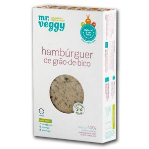 Hambúrguer de Grão de Bico Mr. Veggy 400g (6 unidades) ❄