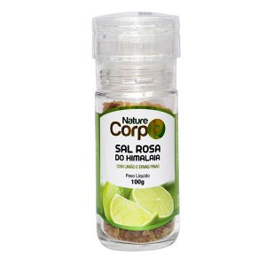 Sal Rosa do Himalaia Limão com Ervas Finas Nature Corp 100g