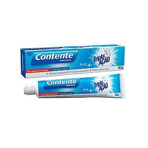 Creme Dental Contente Plus Tripla Ação 90g