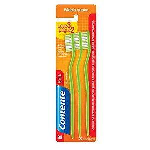 Escova Dental Contente Soft - Leve 3, Pague 2