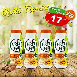 PROMO Leve 4 Pague 3 Iogurte Vegano de Amêndoa Natural Light Vida Veg 450g ❄