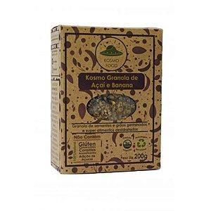 Cracker Vivo de Granola de Açaí e Banana Kosmo Food 200g